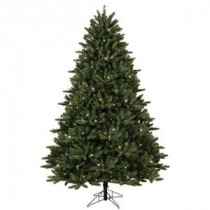 GE 7.5 ft. Pre-Lit LED Just Cut Frasier Fir Artificial Christmas Tree with EZ Light Technology and Warm White LED Lights-01675HD 206768296