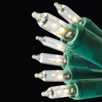 GE String-A-Long 100-Light Green Wire Clear String Light Set-60216HD 204076469