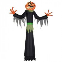 Gemmy 12 ft. H Giant Projection Kaleidoscope Inflatable Pumpkin Man-58613 206052357