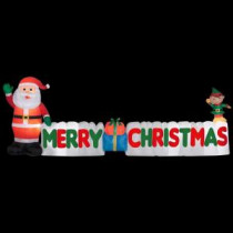 Gemmy 12 ft. Long Inflatable Merry Christmas Sign-89991 205081054