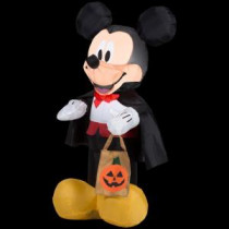 Gemmy 22.05 in. W x 20.08 in. D x 42.13 in. H Inflatable Mickey Vampire with Tote-58876 207107592