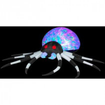 Gemmy 2.6 ft. Inflatable Projection Kaleidoscope Spider-55295X 206355144