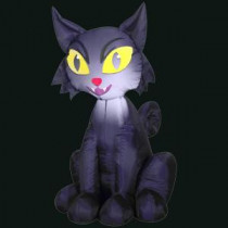 Gemmy 27.56 in. L x 23.62 in. W x 42.13 in. H Inflatable Outdoor Scary Cat-53987X 300060758