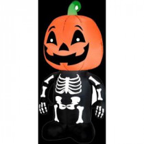 Gemmy 3.5 ft. Inflatable Pumpkin Boy Skeleton-64929X 206355159