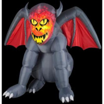Gemmy 4.6 ft. Inflatable Projection Fire and Ice Gruesome Gargoyle-57635X 206355148