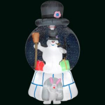 Gemmy 51 in. H Inflatable Snow Globe-Frosty with Presents-Frosty-87537X 300060734