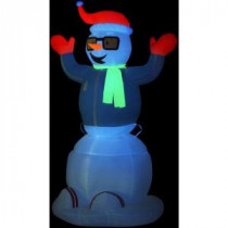 Gemmy 6 ft. Animated Inflatable Neon Snowman-87565X 204475636