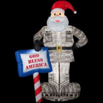 Gemmy 7 ft. Inflatable Military Santa-89127 204220613