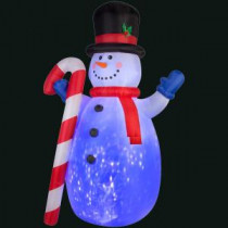 Gemmy 72.05 in. L x 54.72 in. W x 120.08 in. H Inflatable Projection Kaleidoscope Snowman-36726X 300060740
