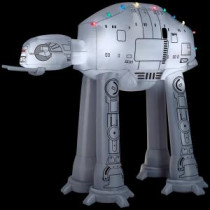 Gemmy 88.98 in. D x 62.21 in. W x 96.06 in. H Inflatable AT-AT On Snow Base Scene-37523 206997633