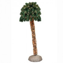 General Foam 6 ft. Pre-Lit Palm Artificial Christmas Tree with Clear Lights-HD-PT60C150 203321199