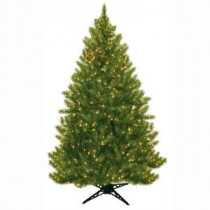 General Foam 6.5 ft. Pre-Lit Carolina Fir Artificial Christmas Tree with Clear Lights-HD-21665C5 203321263