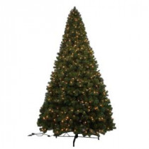 Generic 12 ft. Noble Fir Quick-Set Artificial Christmas Tree with 1450 Clear Lights-W14L0469 205943364