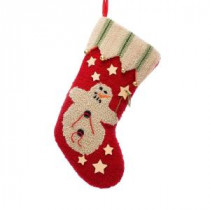 Glitzhome 19 in. Polyester/Acrylic Hooked Christmas Stocking with Snowman-JK16029PF 207053519