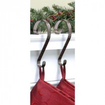 Haute Decor Stocking Scrolls Stocking Holders Bronze Embossed Holly (2-Pack)-SS0222 206998500
