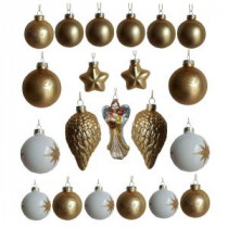 Home Accent Holiday Glass Angel and Ball Ornament Assortment (21-Pack)-D136-GXRKHD002 206949775