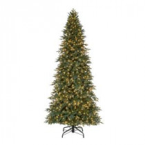 Home Accents Holiday 10 ft. Pre-Lit LED Meadow Quick-Set Artificial Christmas Tree with Warm White Lights-TGA0P2557L00 206770998