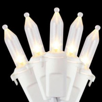 Home Accents Holiday 100-Light LED Warm White Mini Light Set in White Wire-L9100095WU01 206771046
