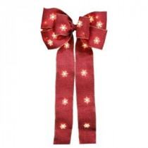 Home Accents Holiday 12 in. Red Burlap Bow-BP02-6R024-A1 206951340