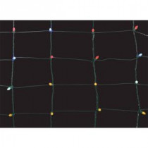 Home Accents Holiday 150-Light Multi-Color 8 in. x 7.5 ft. Ribbon Net Lights-TY059-1616M 206806022