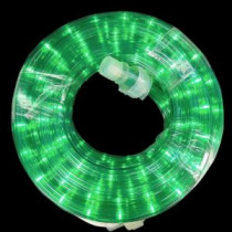 Home Accents Holiday 18 ft. 216-Light Green Rope Light-TY-18ROPE-GR 207045262