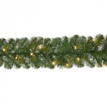 Home Accents Holiday 18 ft. Pre-Lit Noble Fir Garland with 100 Lights-GTI0FY146C00 206771030