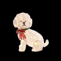 Home Accents Holiday 24 in. Pre-Lit Fluffy Dog-TY073-1314-0 205983465