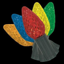 Home Accents Holiday 25-Light LED C9 72-Function Red/Green/Blue Light Set with Remote-TY601-1415 205092374