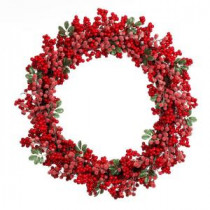 Home Accents Holiday 28 in. Artificial Christmas Grapevine Wreath with Red Berries-2321580HD 206768338