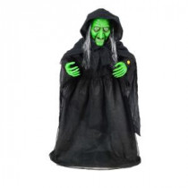 Home Accents Holiday 36 in. Animated Halloween Witch with Animated Moving Jaw-6330-36689 206770870