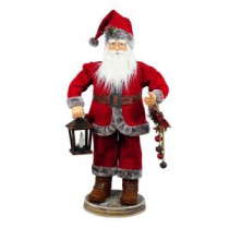 Home Accents Holiday 36 in. Santa Clause Holding LED Illuminated Lantern-6230-36115HDD 206963203