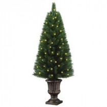 Home Accents Holiday 4 ft. Potted Artificial Christmas Tree with 50 Clear Lights-TYT-14048 205092429