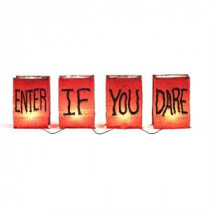 Home Accents Holiday 4-Light Enter If You Dare Luminary Light String-TY036-1622 206770922