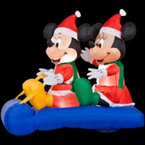 Home Accents Holiday 5 ft. Inflatable LED Mickey and Minnie's Sled Scene-85646 202704708