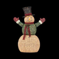 Home Accents Holiday 5 ft. Pre-Lit Burlap Snowman in Coat and Mittens-TY326-1514-0 205983425