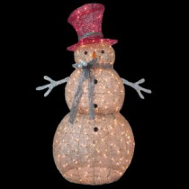 Home Accents Holiday 5 ft. Pre-Lit Gold Snowman-TY364-1411 205152647