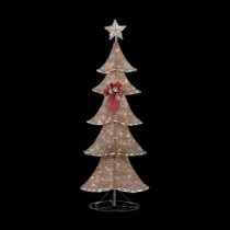 Home Accents Holiday 6 ft. Pre-Lit Brown Rustic Tree-TY090-1411 205983441