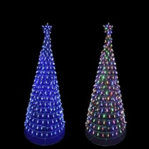 Home Accents Holiday 6 ft. Pre-Lit LED Tree Sculpture with Star and Color Changing Blue to Multi-Color Lights-7407323UHO 205919327