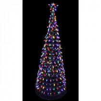 Home Accents Holiday 6 ft. Pre-Lit LED Tree Sculpture with Star - Multi-Colored Lights-4407454G-02UHO 207044860