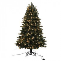 Home Accents Holiday 6.5 ft. Blue Spruce Elegant Twinkle Quick-Set Artificial Christmas Tree with 400 Clear and Sparkling LED Lights-W14L0463 205943388