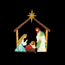 Home Accents Holiday 66 in. LED Lighted Tinsel Nativity Scene-TY762-1614-0 206963214