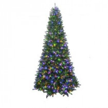 Home Accents Holiday 7 ft. to 10 ft. LED Pre-Lit Adjustable Rising Artificial Spruce Christmas Tree-16HD0173 206973829