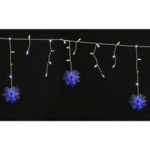 Home Accents Holiday 70-Light LED White Dome with Snowflakes Icicle Light Set-TY717-1315 204081134