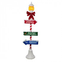 Home Accents Holiday 72 in. Holiday Lamppost with LED Illuminated Lantern-6207-72625 206954022