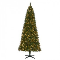 home accents holiday 75 ft pre lit led wesley slim spruce quick set artificial christmas tree with warm white lights tg76m3p08l03 206771006 - 75 Ft Pre Lit Christmas Tree