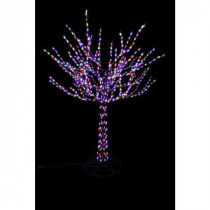 Home Accents Holiday 8 ft. Pre-Lit LED Bare Branch Tree with Multi-Colored Lights-4407463BR-02UHO 207044849