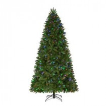 Home Accents Holiday 9 ft. Pre-Lit LED Sierra Nevada PE/PVC Quick-Set Artificial Christmas Tree with 8 Functions Color Changing Lights-TG90P3A38D00 206771308