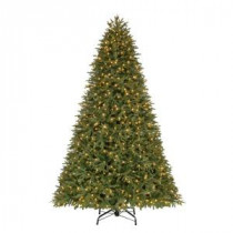 Home Accents Holiday 9 ft. Pre-Lit LED Stamford FIR Quick-Set Artificial Christmas Tree with Warm White Lights-TG90P5396L00 206771045