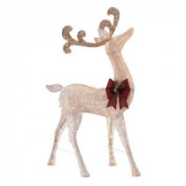 Home Accents Holiday 91 in. LED Lighted Standing Deer-TY500-1511 206954539