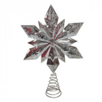 Home Accents Holiday 9.5 in. Silver Star Christmas Tree Topper-16734198A 206950489